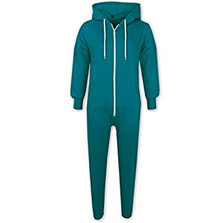 A2Z 4 Kids® Unisex Kids Girls Boys Plain Color Fleece Hooded Onesie All In One 2 3 4 5 6 7 8 9 10 11 12 13 Years (2-3, Turquoise)