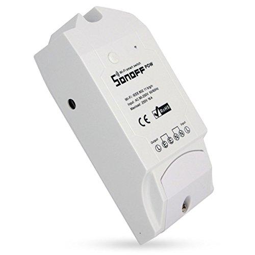 Sonoff Pow Drahtlose WiFi Schalter ON/Off 16A Mit Echtzeit Stromverbrauch Messung Haushaltsgerät IOS Android fernbedienung (Kompatibel mit Amazon Alexa [Echo, Echo Dot]