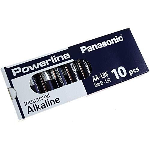 Panasonic Powerline Industrial Alkaline AA LR6AD LR6 M 1,5V 10er Pack, Alkaline, 1,5V Panasonic Industrial Alkaline