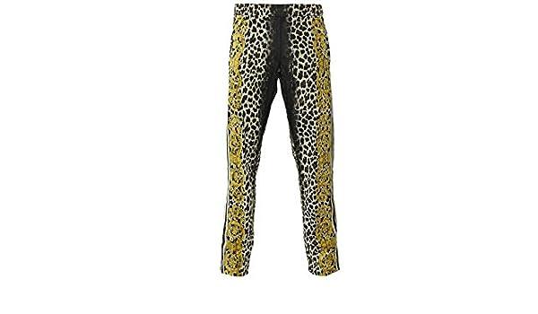 huge discount 6945e 394f7 Adidas JS LEOPARD TRACK PANTS Braun Gold Men Fashion Pants Jeremy Scott   Amazon.co.uk  Sports   Outdoors