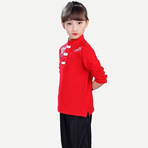 Fuyingda Unisex Mädchen Junge Tai Chi Kung Fu Tang Anzug Hose Hemd Set Kampfsportanzug Darbietungen Tanzkostüme