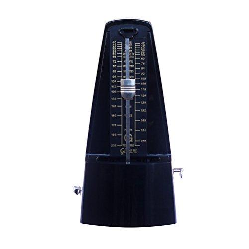 rosenice Metronom mechanisch Hochpräzise mit Click akustisches und Ring-glocke für Musiker (schwarz)