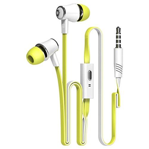Tefamore Auriculares Estéreo De 3.5mm Con Micrófono En-Oído Para Teléfono Móvil (Verde)