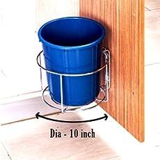 Planet High Grade Stainless Steel Bin Holder/Dust Bin Holder/Modular Kitchen Fixture (Dia 10)