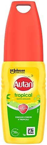 Autan Tropical Vapo Insetto Repellente e Antizanzare Comuni e Tropicali, 100ml