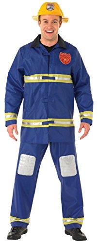 Rubie's - Costume per travestimento da pompiere, Uomo, taglia: L