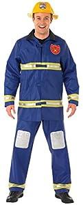 Rubbies - Disfraz de bombero adultos, talla M (889502M)
