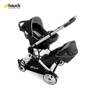 hauck duett tanden doppel babywagen autositz ab 0 schwarz baby. Black Bedroom Furniture Sets. Home Design Ideas
