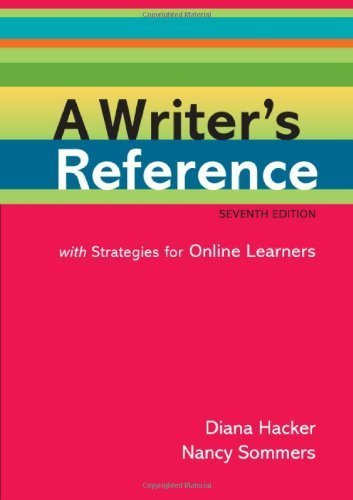 A Writer's Reference with Strategies for Online Learners by Diana Hacker (2011-06-24)