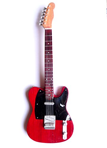 Miniatur Gitarre Deko Mini guitar Fender Telecaster 25 cm Handarbeit aus Holz #130