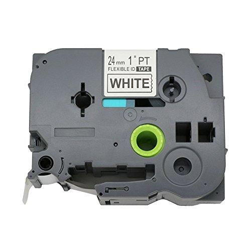 Fassport 1 Black on Clear Label-Brother-Nastro etichettatrice compatibile per Brother P-Touch TZ 151 TZe 151 2,54 cm (1') 24 mm Black on White Flexible