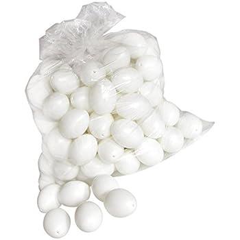 100 deko eier ca 6 cm kunststoff eier. Black Bedroom Furniture Sets. Home Design Ideas