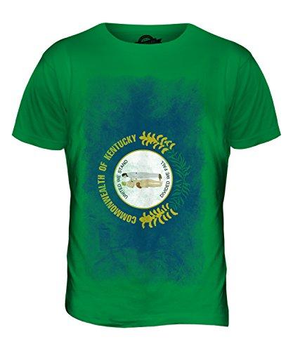 CandyMix Bundesstaat Kentucky Verblichen Flagge Herren T Shirt Grün