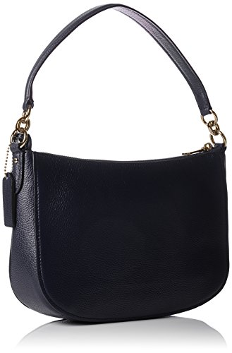 Shoulder Bags Coach Women Leather Blue and Gold 56819LINAV Blue 6.5x18x28 cm