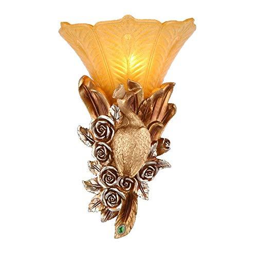 Art européen résine lampes murales or luxe villa ancienne éclairage décoration salon décoration hôtel chambre lampes de chevet,B