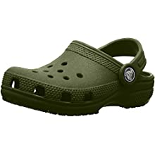 Crocs Roomy Fit Classic Clog, Zoccoli Unisex Bambini, Verde (Army Green 309), 20/21 EU