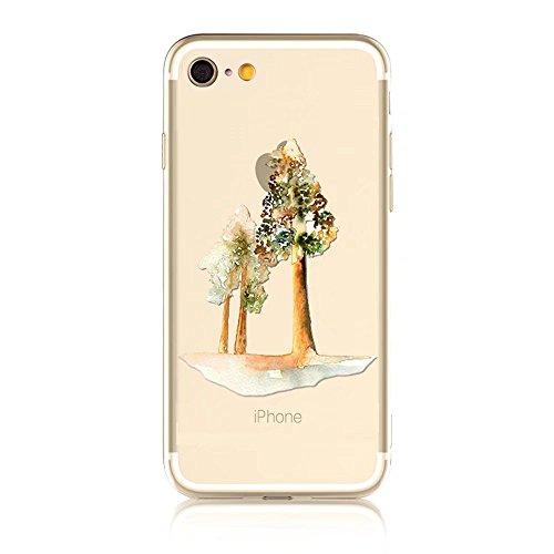 MOMDAD iPhone 6S Plus Coque iPhone 6S Plus 5.5 Pouces Housse Etui Anti chocs Back Cover Bumper Case Anti Scratch Shock Absorption pour iPhone 6 Plus/ 6S Plus 5.5 Pouces Transparente Coque TPU Souple C Art tree-6