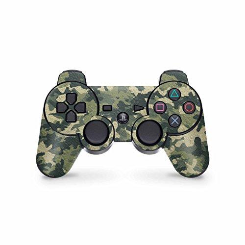 Skins4u Controller Skin Designfolie Aufkleber kompatibel mit Playstation 3 PS3 Wood Camo Crumble