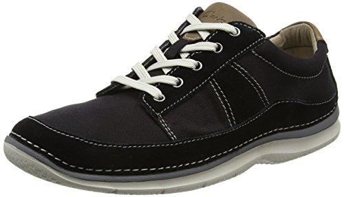 Clarks Herren Ripton Plain Derby Schwarz (Black Canvas)