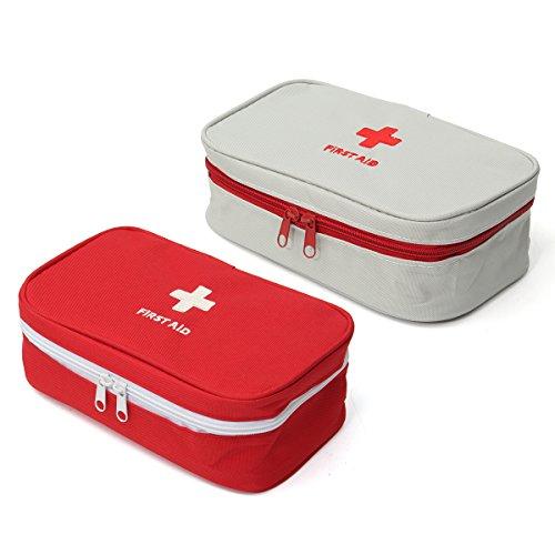 Wchaoen Große tragbare leere Erste-Hilfe-Tasche Kit Pouch Home Office Medical Notfall Reise Rettungskoffer Tasche Werkzeugzubehör (Color : White) -