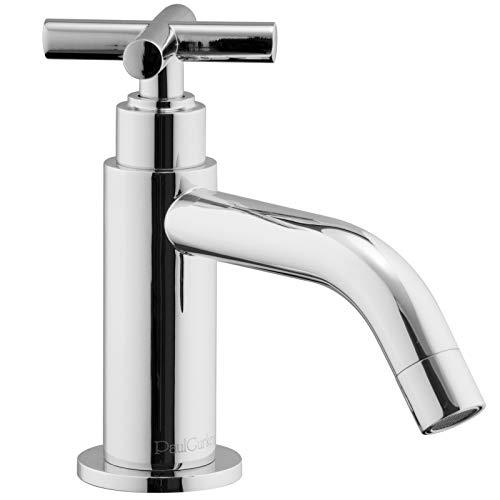 PaulGurkes Kaltwasser Standventil Kreuzgriff Armatur Wasserhahn für Gäste WC Badarmatur für einen Wasseranschluss Kreuzgriff Hahn