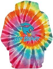 Mr Beast Lightning Cat 3d Hoodies Casual Pullover Sweatershirts Shirt for Girls Women Boy Men