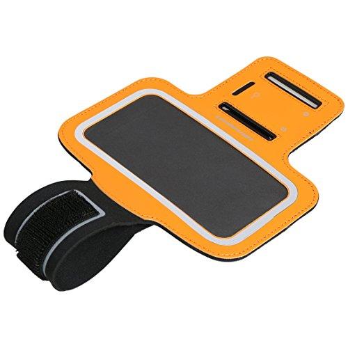 Ultrasport Armbandhülle fürs Handy / Neopren Oberarmtasche mit Handy-Fach und robustem Klettverschluss für festen Sitz - Sporthandyhülle für Frauen und Männer, 5 Zoll, Orange
