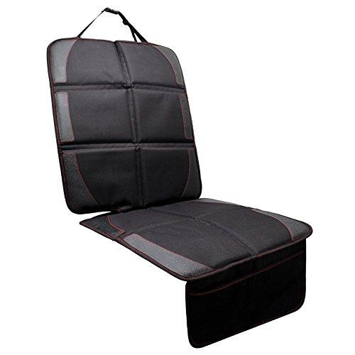 Protezione sedile auto, jvmac cuscino per sedile con materiale premium modello oxford per proteggere i bambini adatto per attacco isofix, impermeabile, tasche in forma universale