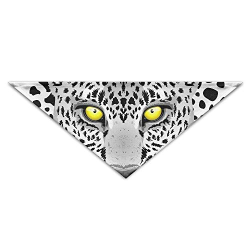 dfegyfr Snow Leopard Tiger Triangle Pet Scarf Dog Bandana Pet Collars for Dog Cat - Birthday (Leopard Snow Halloween Kostüm)