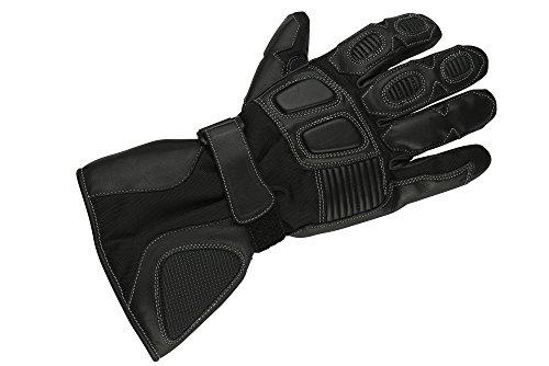 NERVE 1513150504_02 Guanti Protettivo Inverno Alaska per Moto Scooter, Nero, S/8