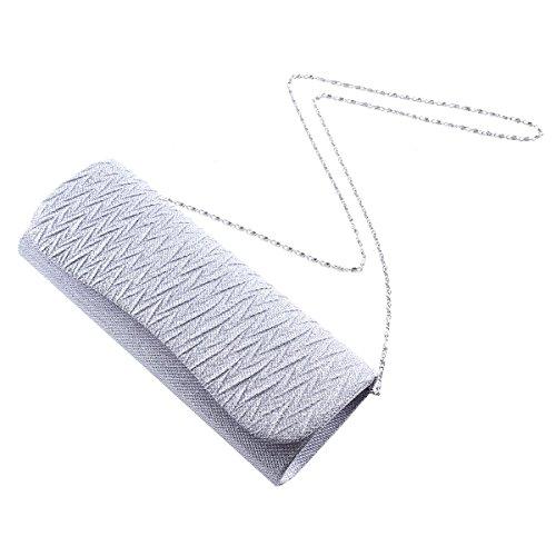 Damara® Glänzende Paillette Damen Partys Handtaschen Mit Magnet Gold