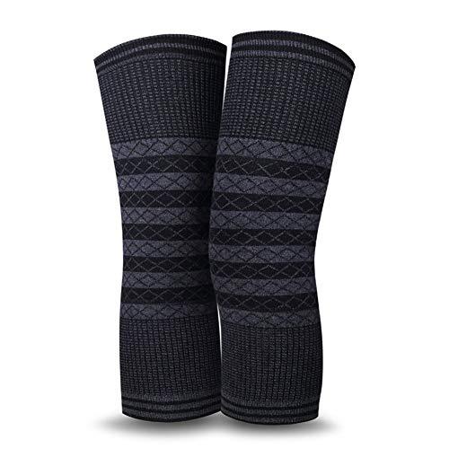 DHINGM Winter Thermal Stretchy Knit Knie Brace atmungsaktiv verdicken Knieschützer, warm halten Beinlinge Kniebandagen, Stützschutz for Radfahren Laufen Klettern Trainings