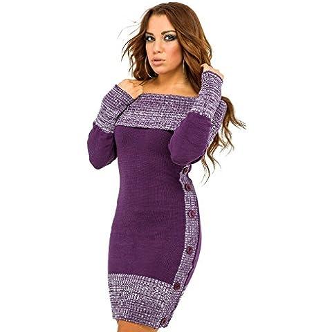 Glamour Empire para mujer Vestitino ajustado stile Bardot. Jersey de punto. 415