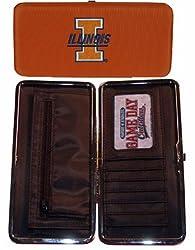 NCAA Illinois Fighting Illini Ladies Microfiber Clutch Wallet