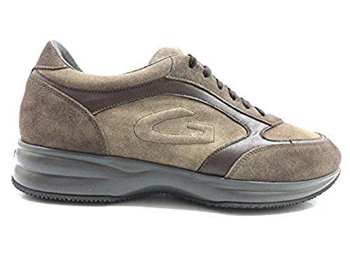 scarpe uomo ALBERTO GUARDIANI 45 sneakers marrone camoscio pelle ZX777