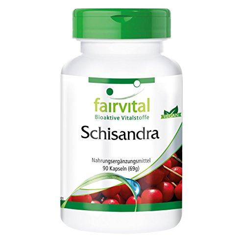 fairvital - Schizandra - 90 cápsulas vegetarianas con esquizandra en polvo y en extracto y schizandrina