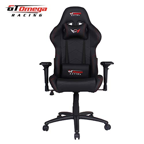 GT OMEGA PRO RACING OFFICE CHAIR BLACK LEATHER