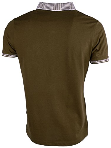 Brave Soul 'Glover' Herren Kurzarm Pique Poloshirt Khaki