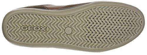 Geox Herren U Box A Sneaker Braun (Ebony/Browncotto)