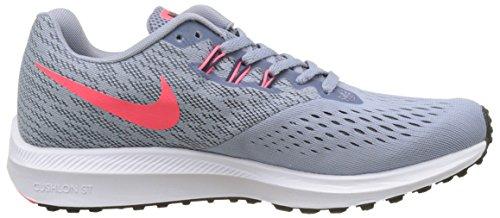 Nike Wmns Zoom Winflo 4, Scarpe da Corsa Donna Multicolore (Glacier Grey/Obsidian/Armory Blue)