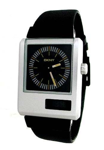 DKNY NY1291 Gents Silver Aluminium On Black Canvas Strap Watch