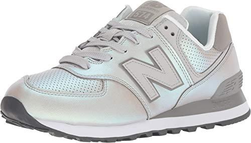 New balancewl574nbk - wl574v2 donna, bianco (infradito colorati estivi, con finte perline), 35.5 w eu
