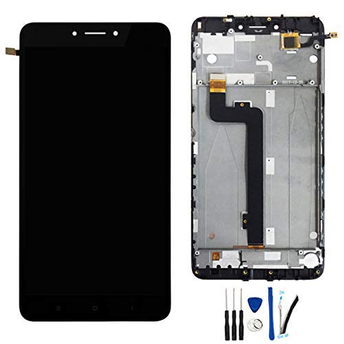 SOMEFUN Pantalla Táctil LCD de Digitalización Asamblea Pantalla de Recambio para Xiaomi Mi MAX 2 con Marco Negro