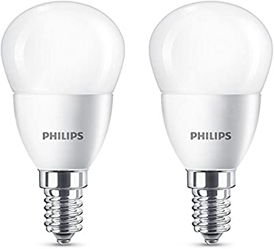 Philips 929001157860 - Pack de 2 Bombillas LED vela, casquillo  E14, 40 W, no regulable