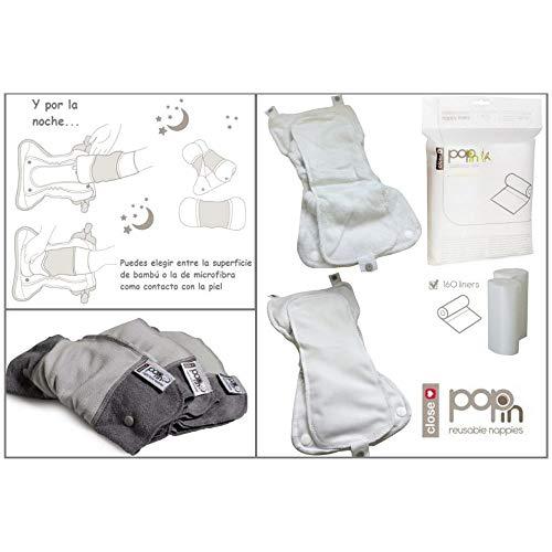 Close Pop-in Windel Nachteinlage – Nighttime Booster – 3er Packung – Grey Day - 3