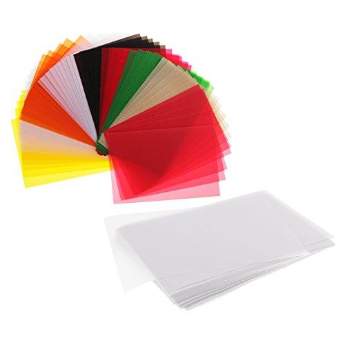 Bonarty 250pcs Weiße Bunte Lichtdurchlässige Pauspapier Pergament Blätter Für