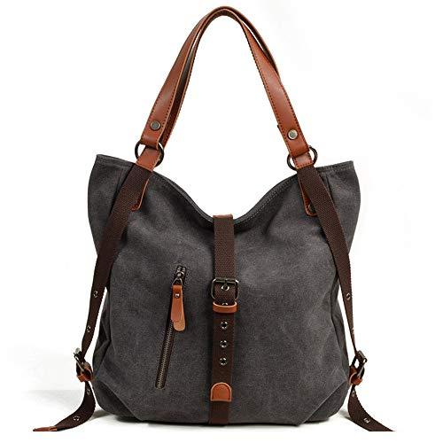 BYEON Handtasche Handtasche für Frauen Canvas Tote Bag Casual Umhängetasche Schultasche Rucksack Cabrio Rucksack - Cabrio Rucksack Tote