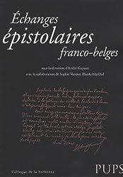 Echanges épistolaires franco-belges
