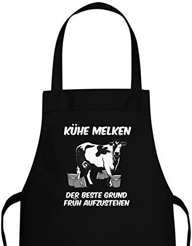 Jayess - Landwirt Schürze- Kühe melken der Beste Grund früh aufzustehen - Der Kuh Melken