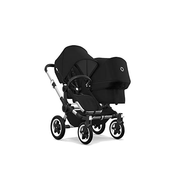 Bugaboo Donkey 2 Twin, 2 in 1 Double Pram and Double Pushchair for Twins, Black Bugaboo Perfect for two children of the same age Use as a double pushchair or convert it back into a single (mono) in a few simple clicks You only need one hand to push, steer and turn 2